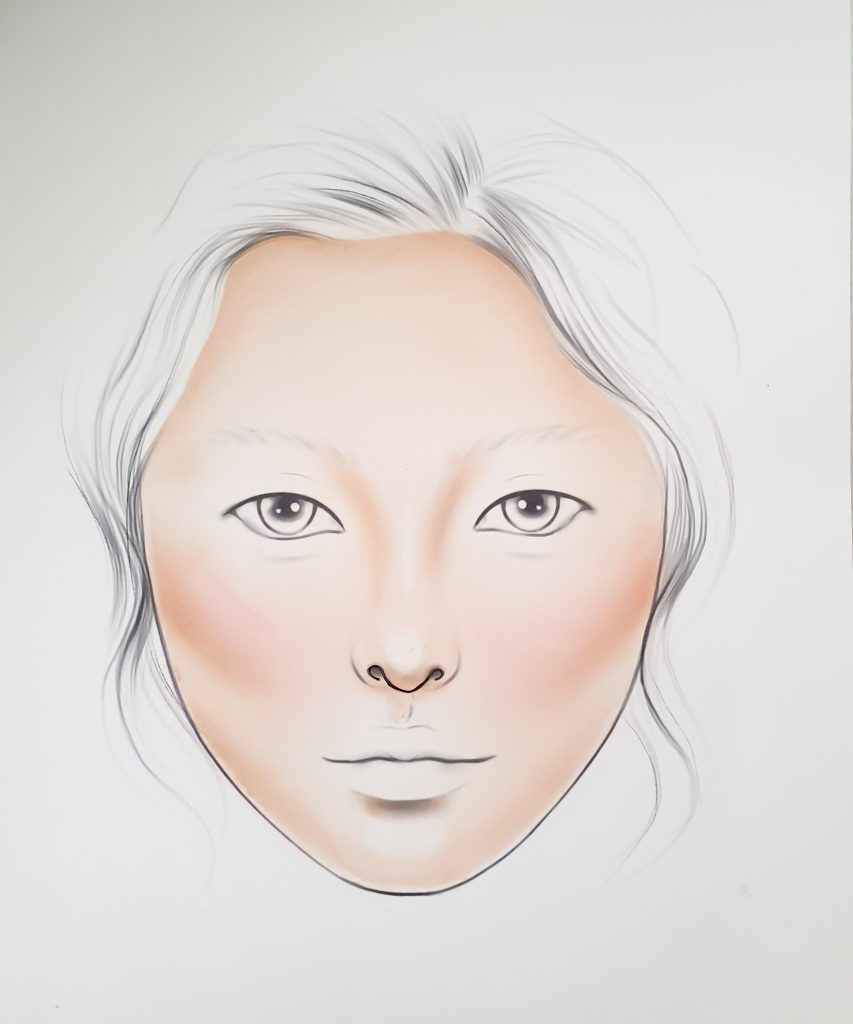 Een facechart skin tone. Facechart basis. NYX Facechart by Liza Kondrevich review by Brit Rietveld