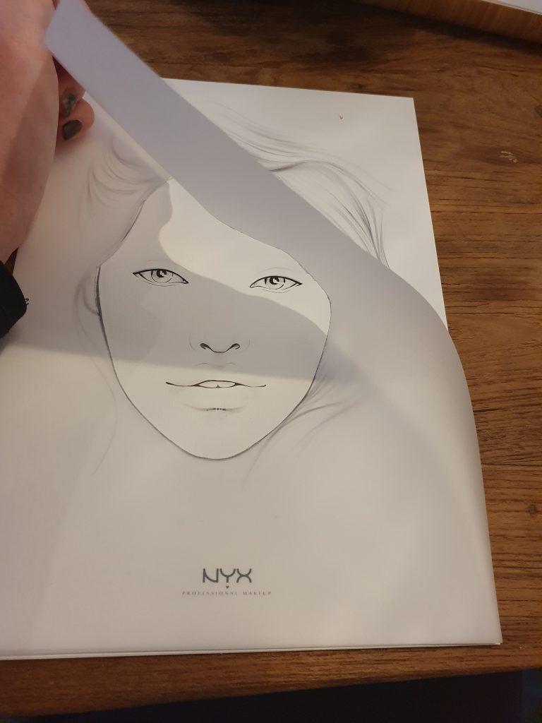Facechart template for NYX by Liza. This paper you will need for facecharts.